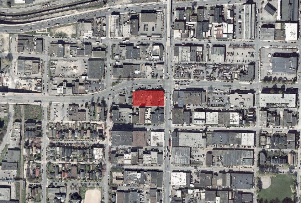 East Hastings and Clark Onni development location