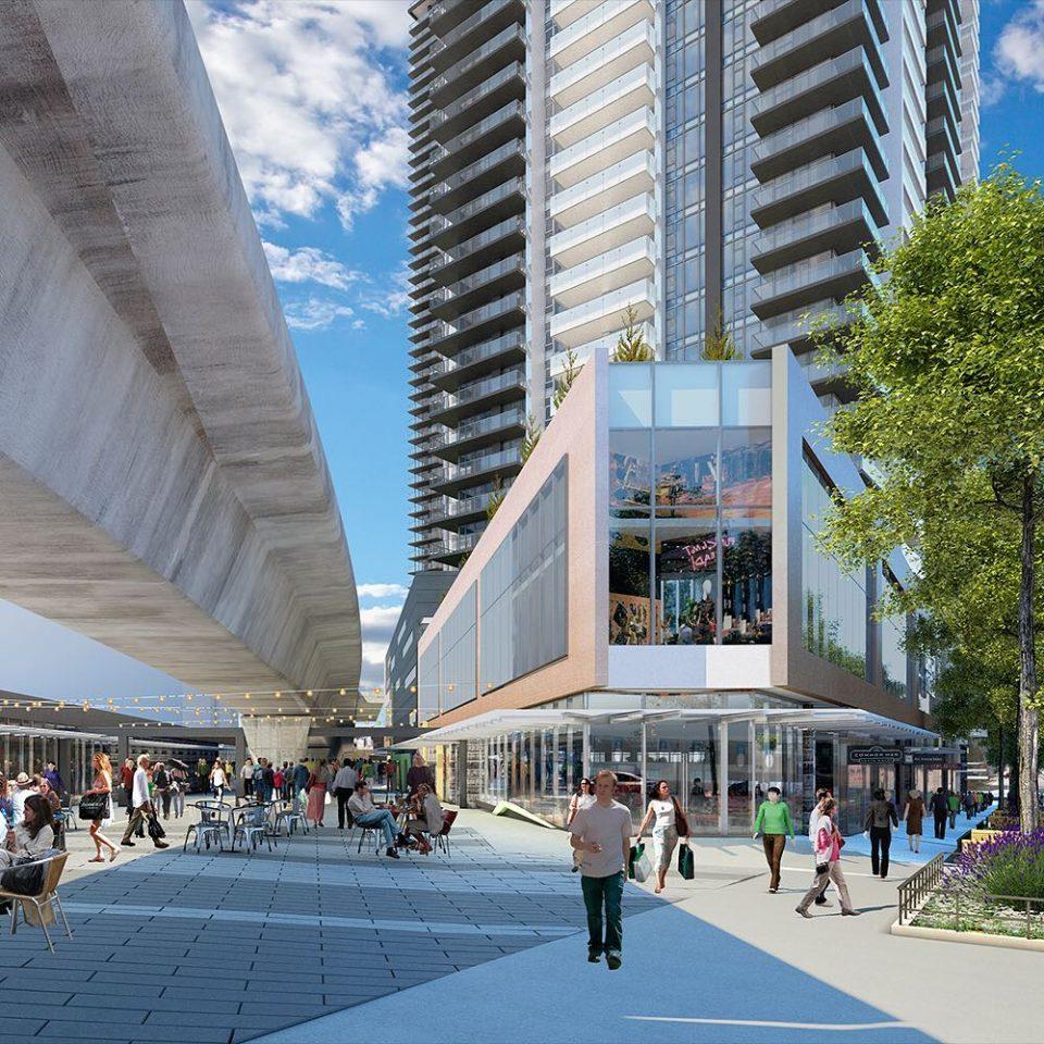 Gilmore Place rendering retail
