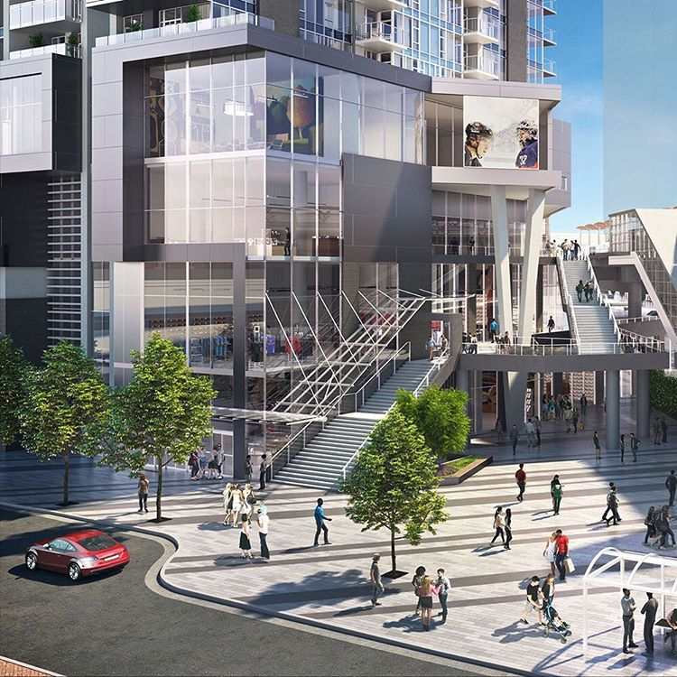 Gilmore Place rendering retail escalator