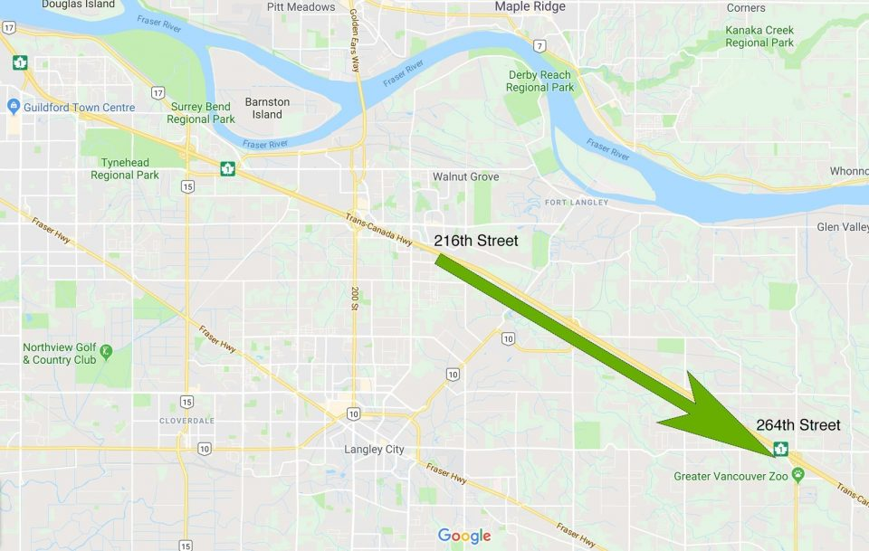Highway 1 will be widened from Langley to Aldergrove