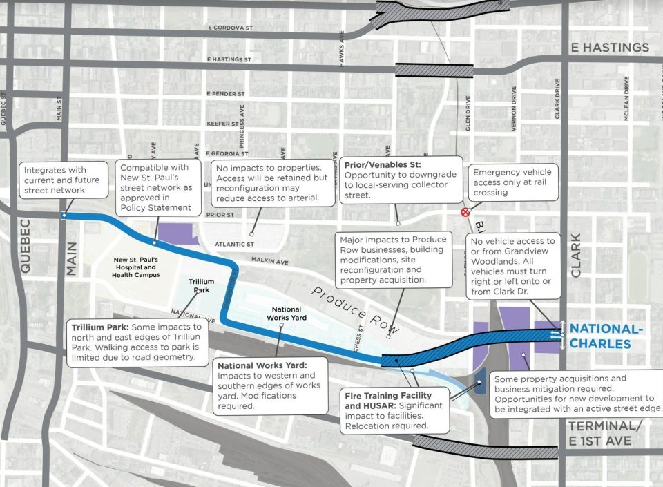 National-Charles option selected as preferred False Creek Flats arterial road