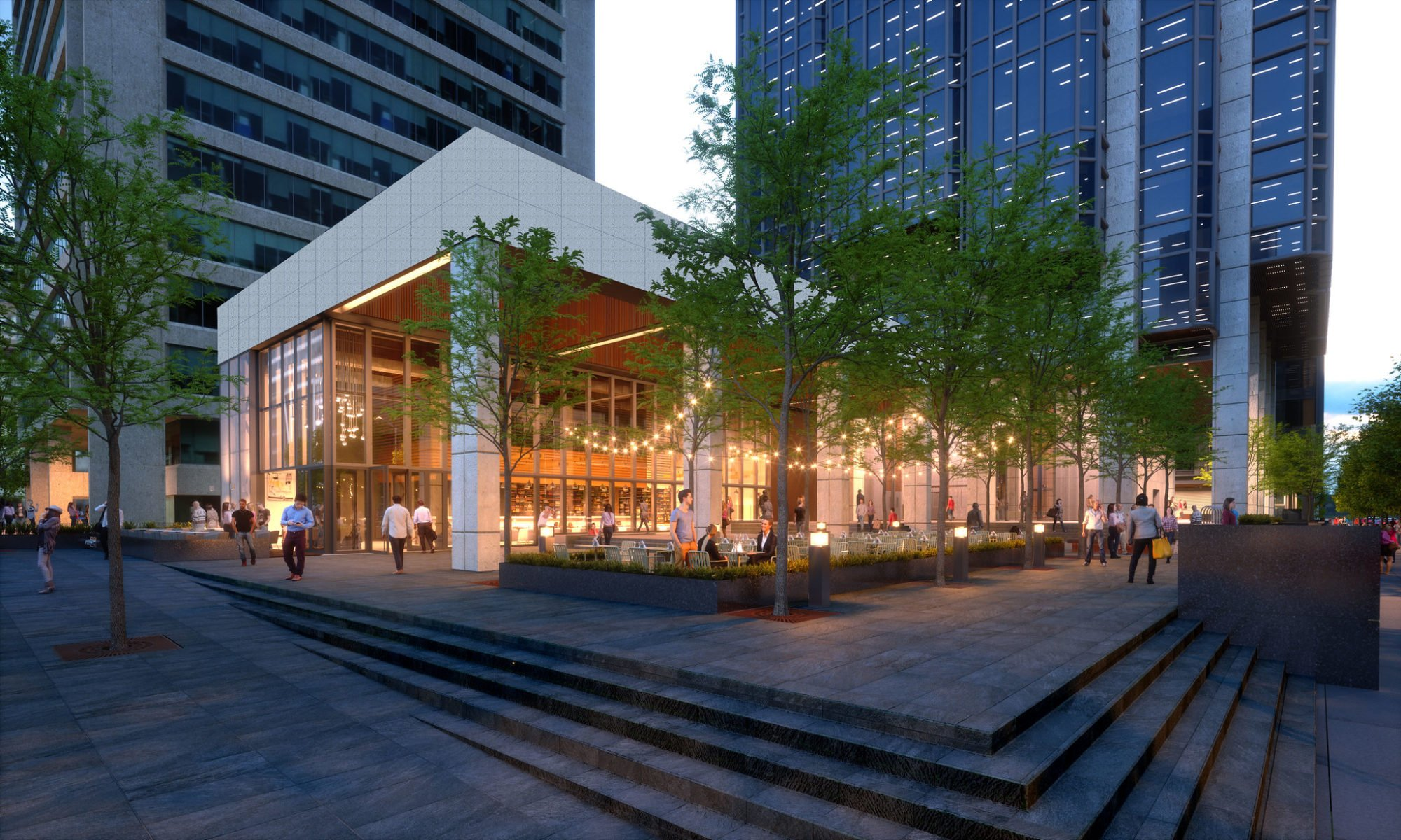 Plaza refresh at 401 West Georgia ahead of Amazon's arrival