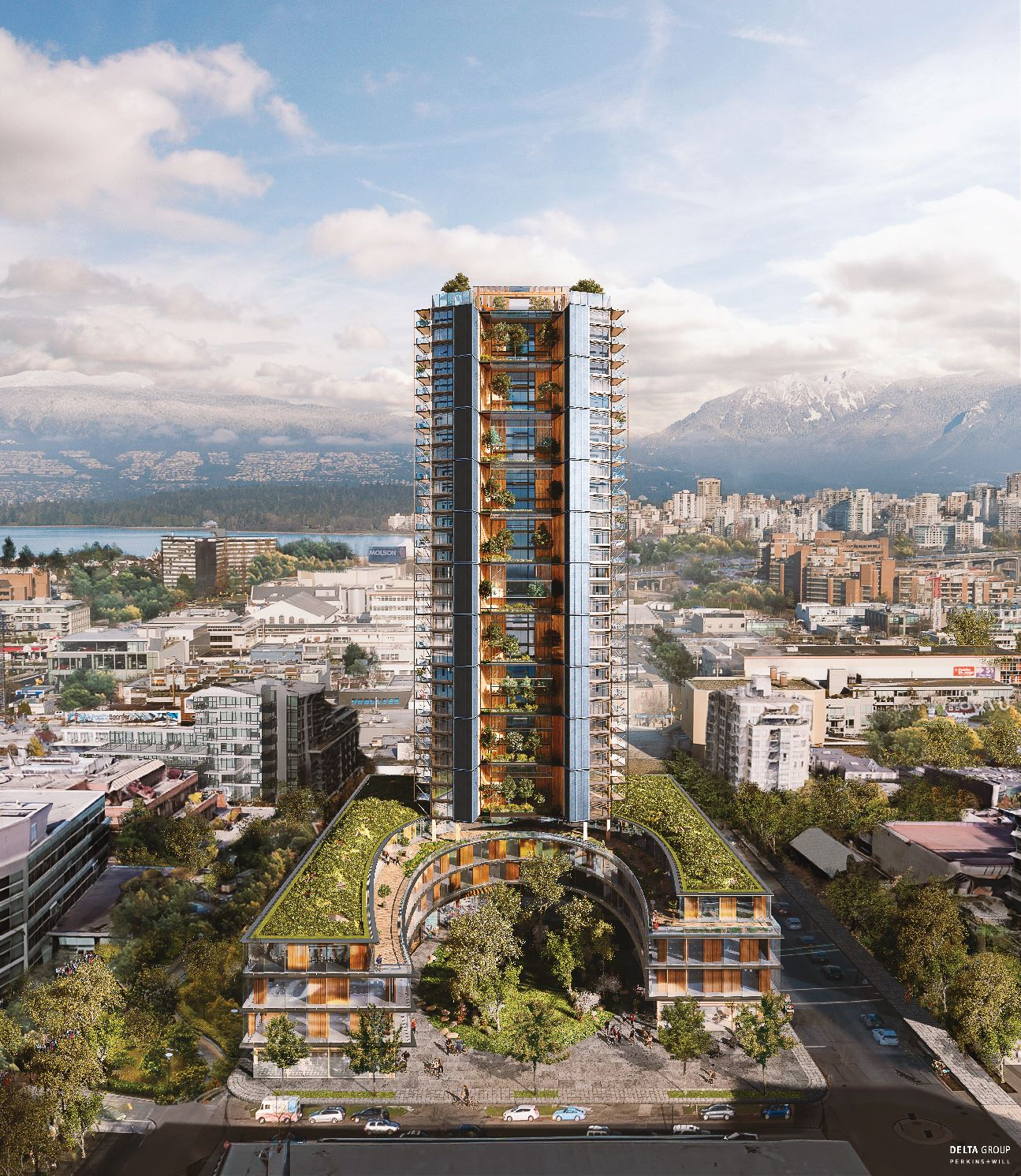 Pineview Mass Timber tower Vancouver