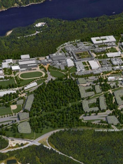 SFU development bird's eye