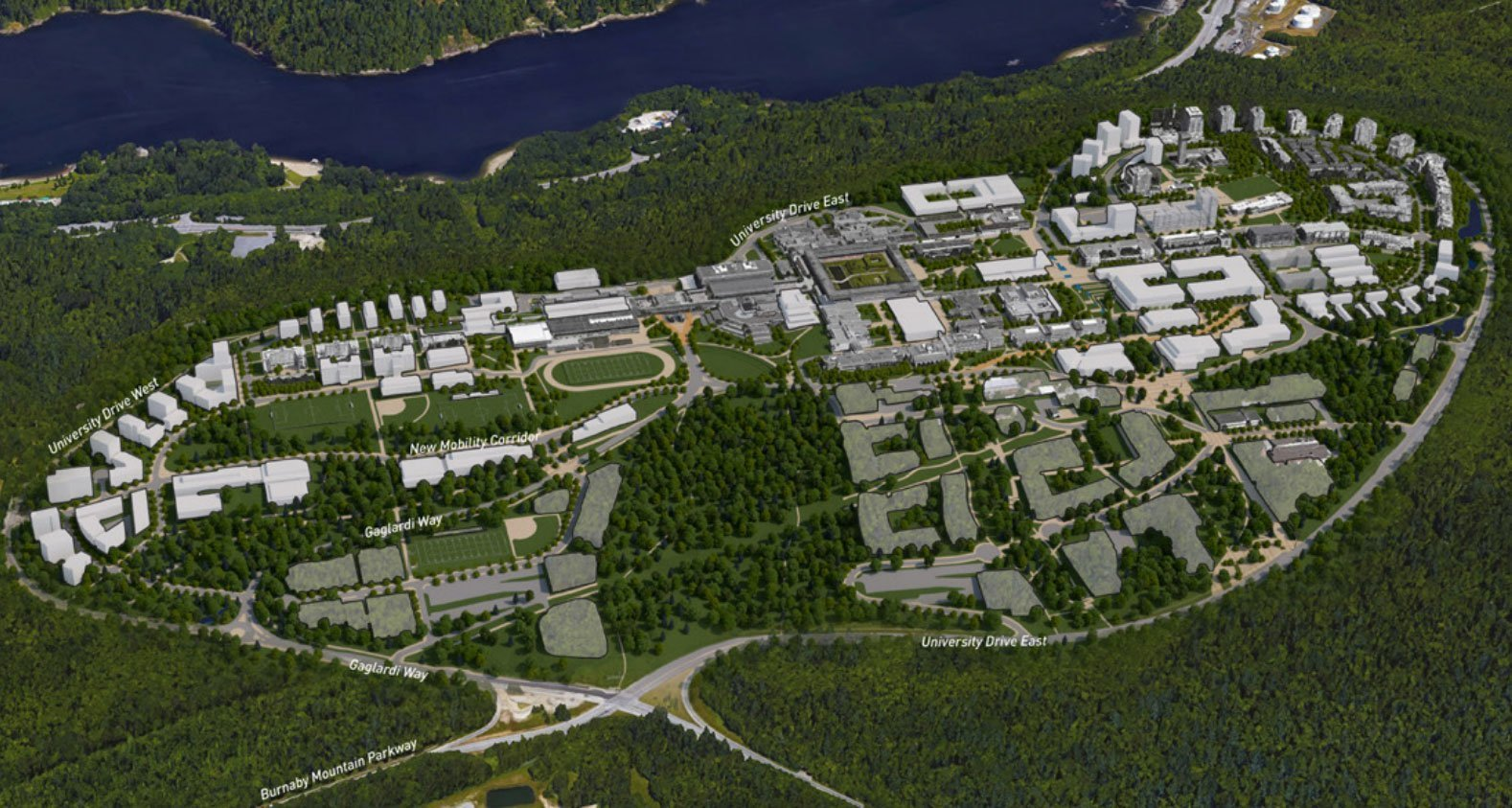 SFU Burnaby Mountain charts course for next 50 years of development