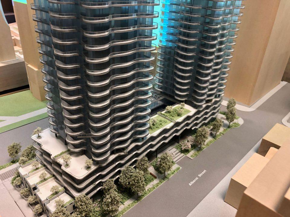 Tower model Alberni Street