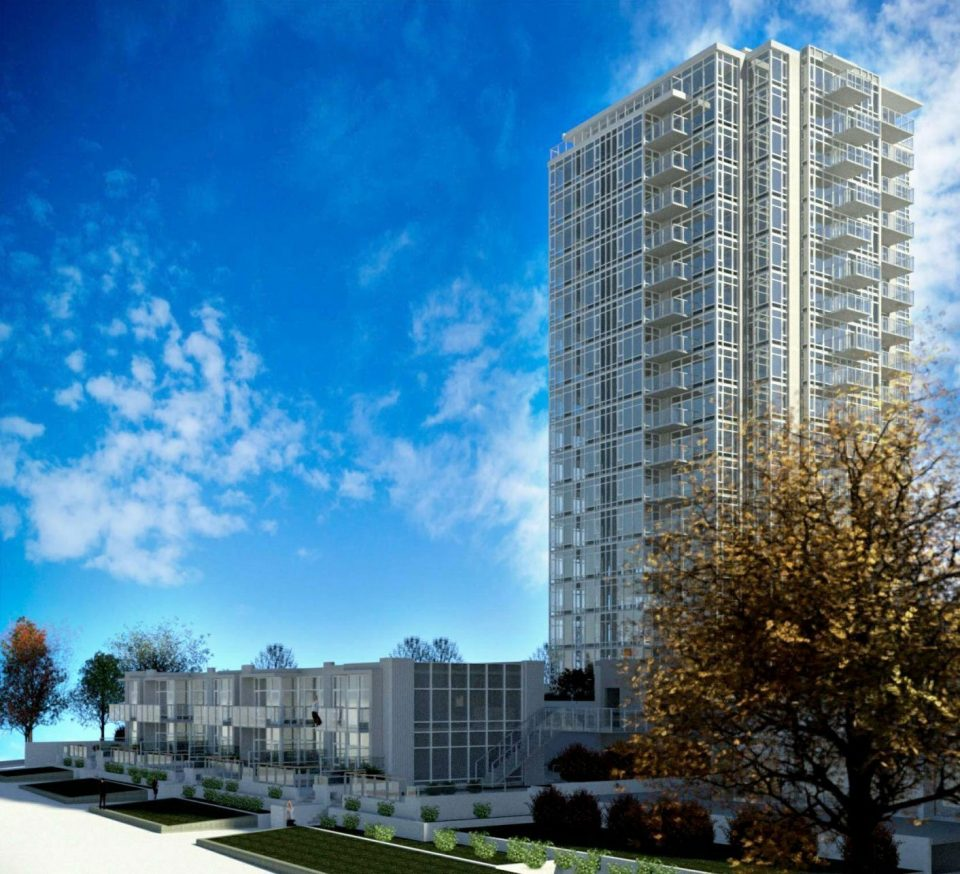 Infill rental tower at Ambleside Towers to add 131 new units to property
