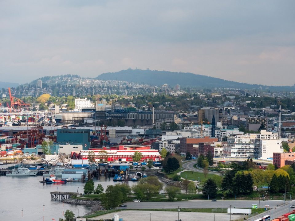 View of CRAB Park and Burnaby Mountain.