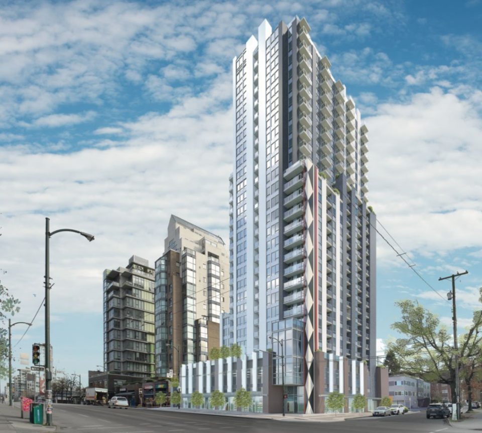 28-storey tower slated for former Denny's site on West Broadway