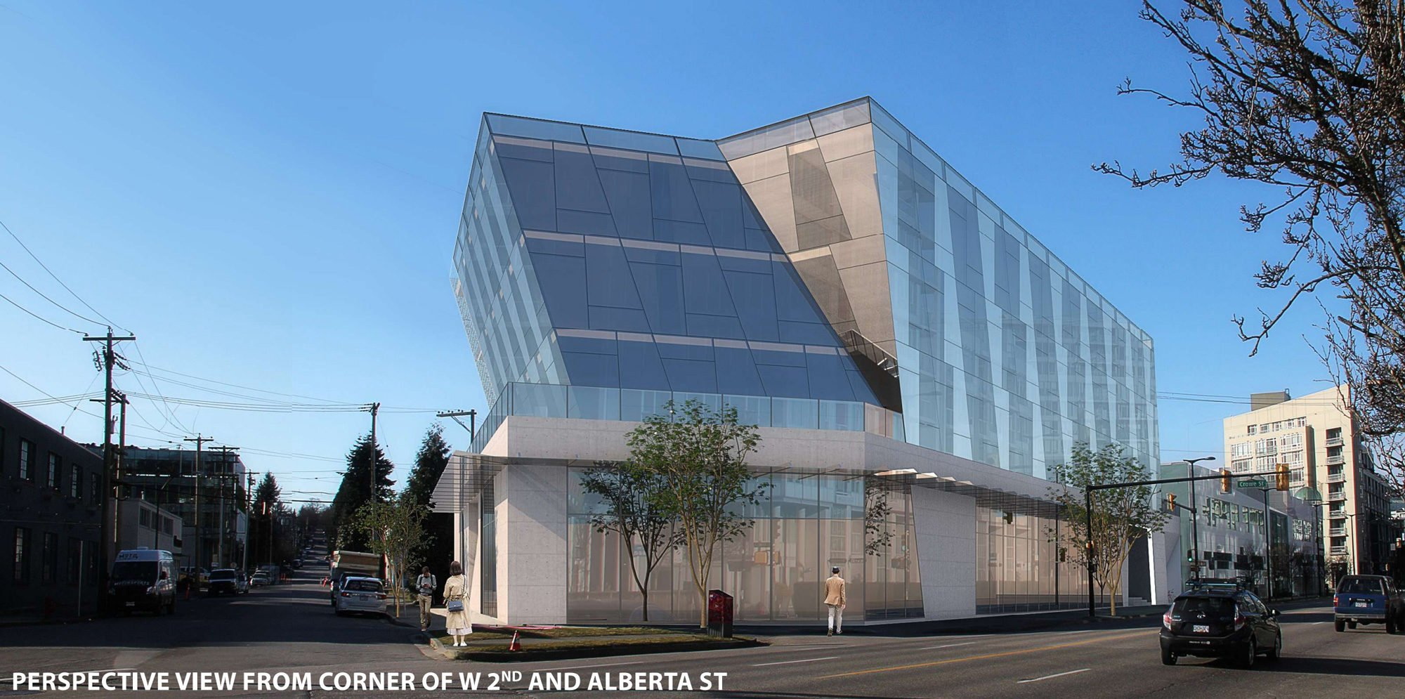 Angular office building slated for West 2nd and Alberta in Mount Pleasant