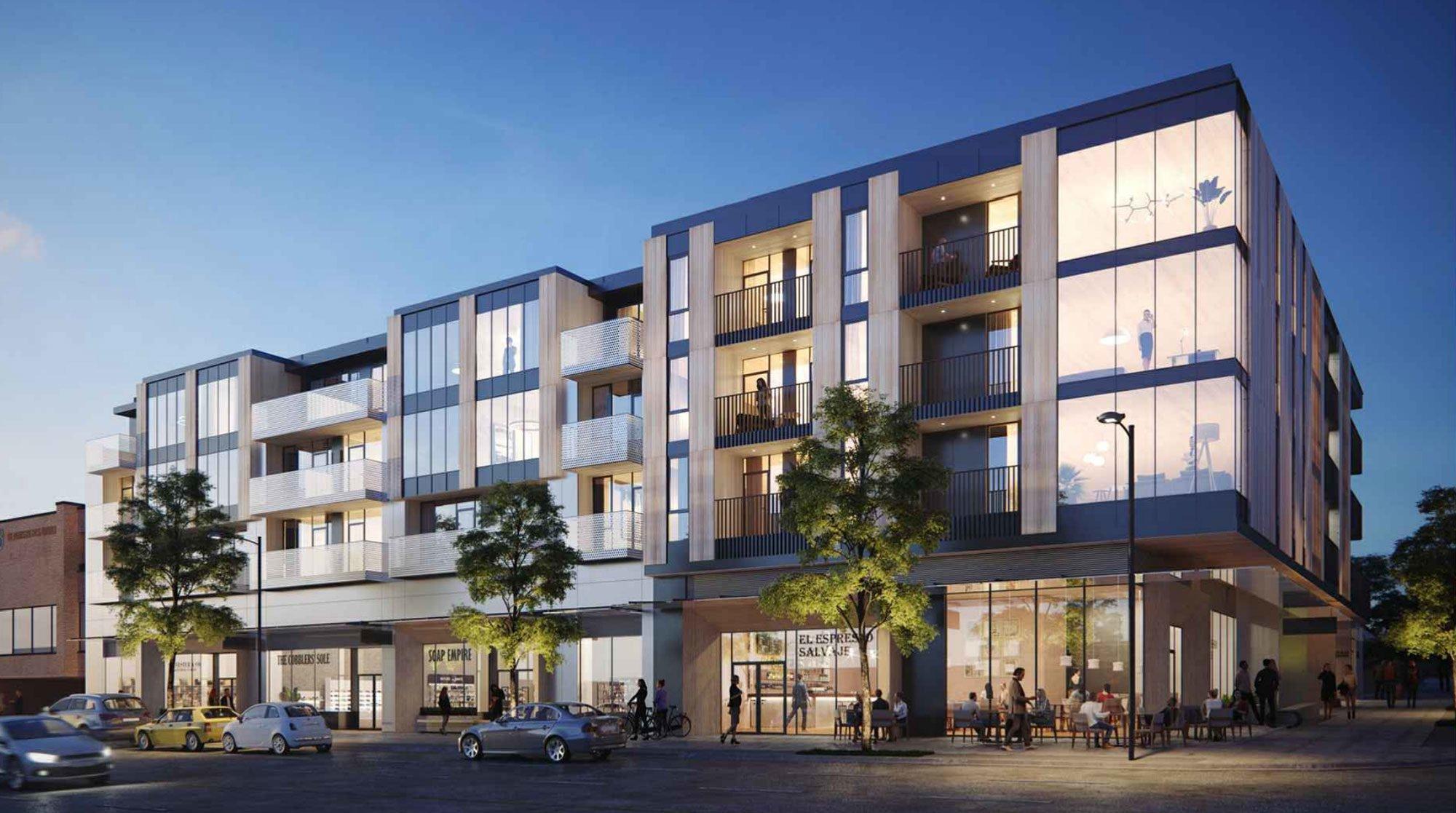 PortLiving plans 61 homes for Mount Pleasant corner