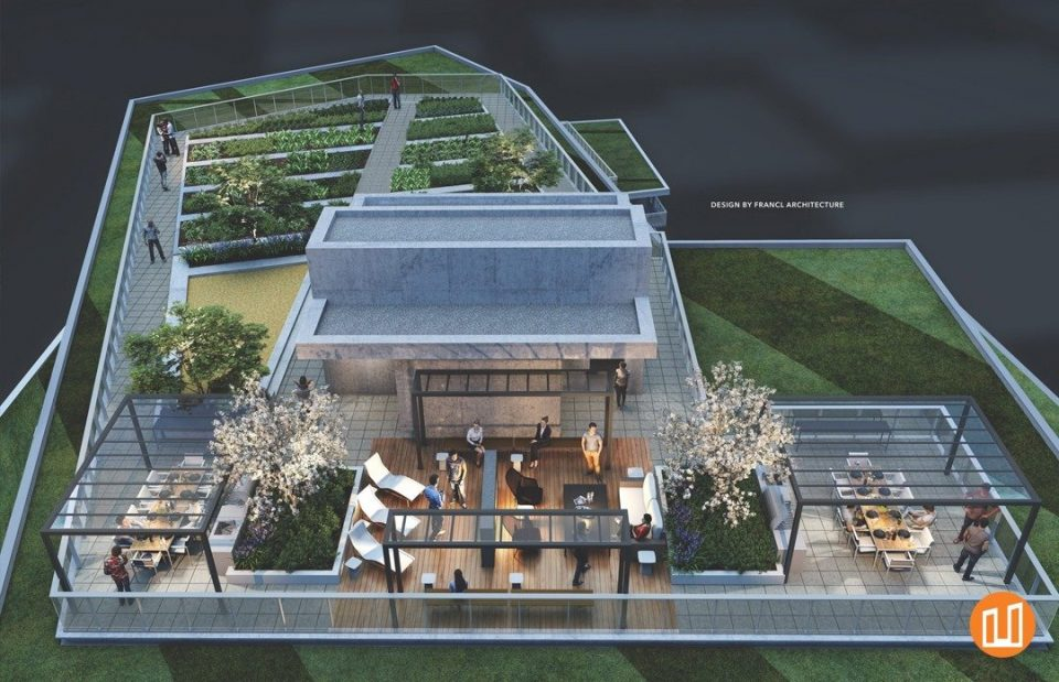 Second + Main rooftop rendering