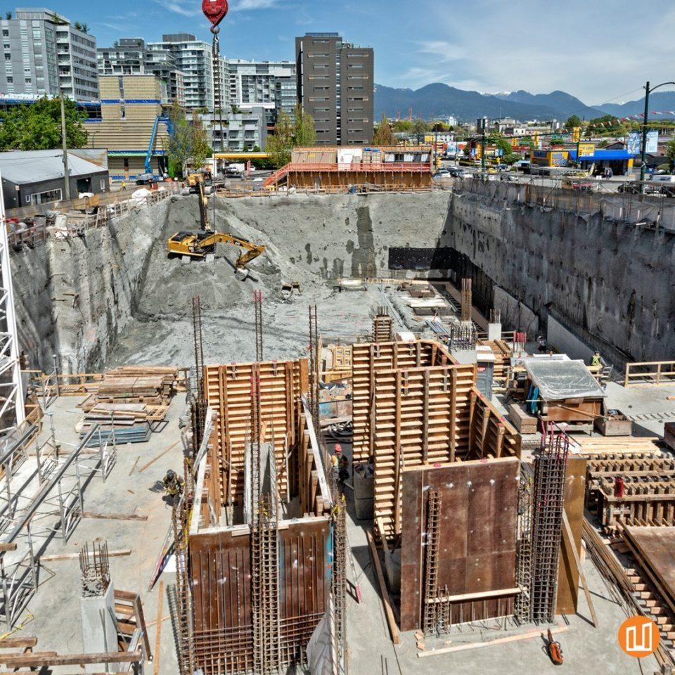 Second + Main construction progress, May 2019.
