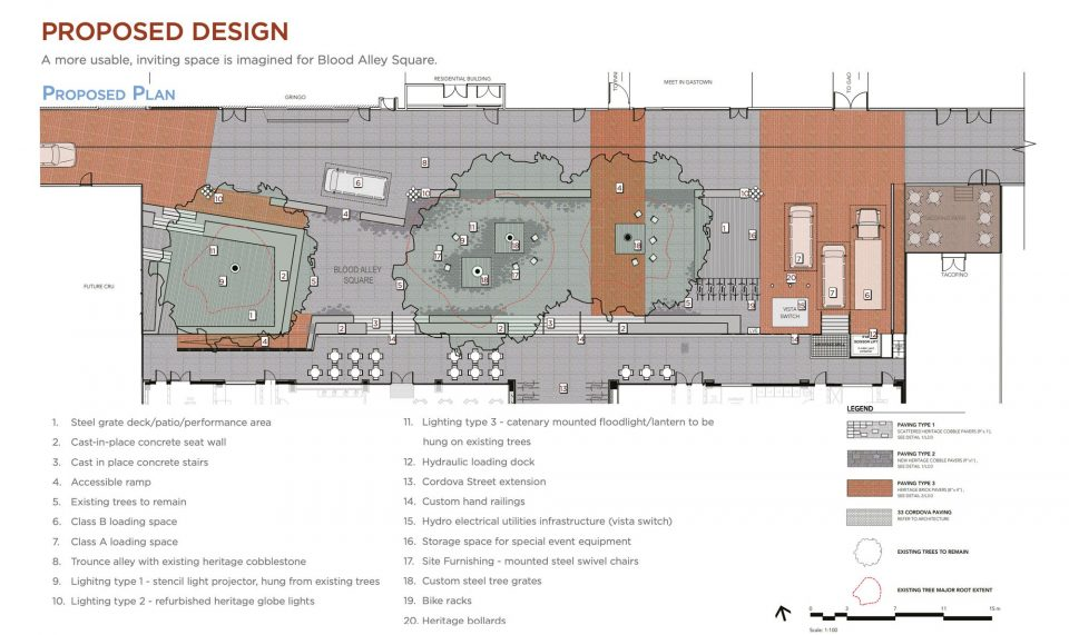 Proposed design of Blood Alley Square