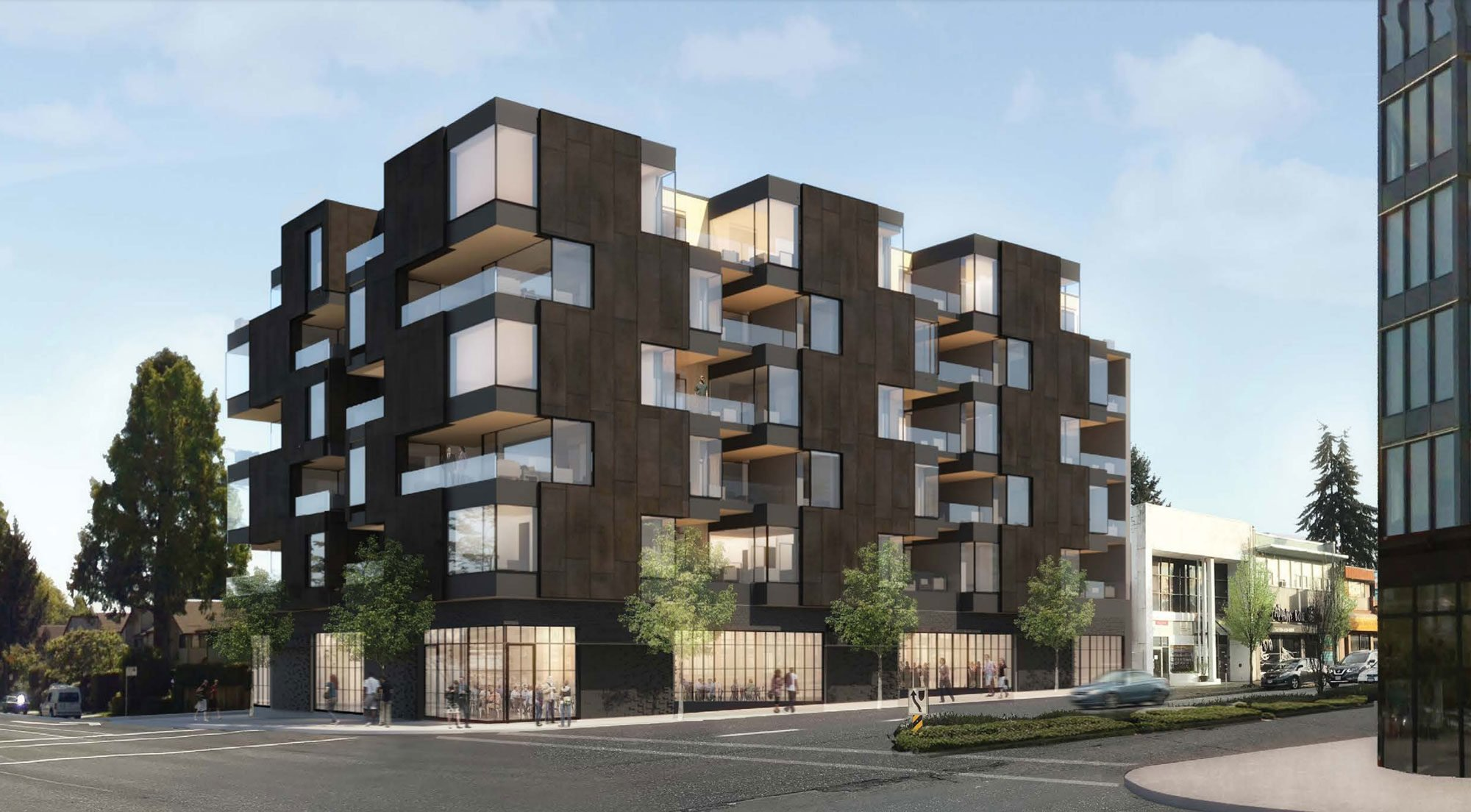Building composed of 'shifting boxes' slated for Cambie and West 16th