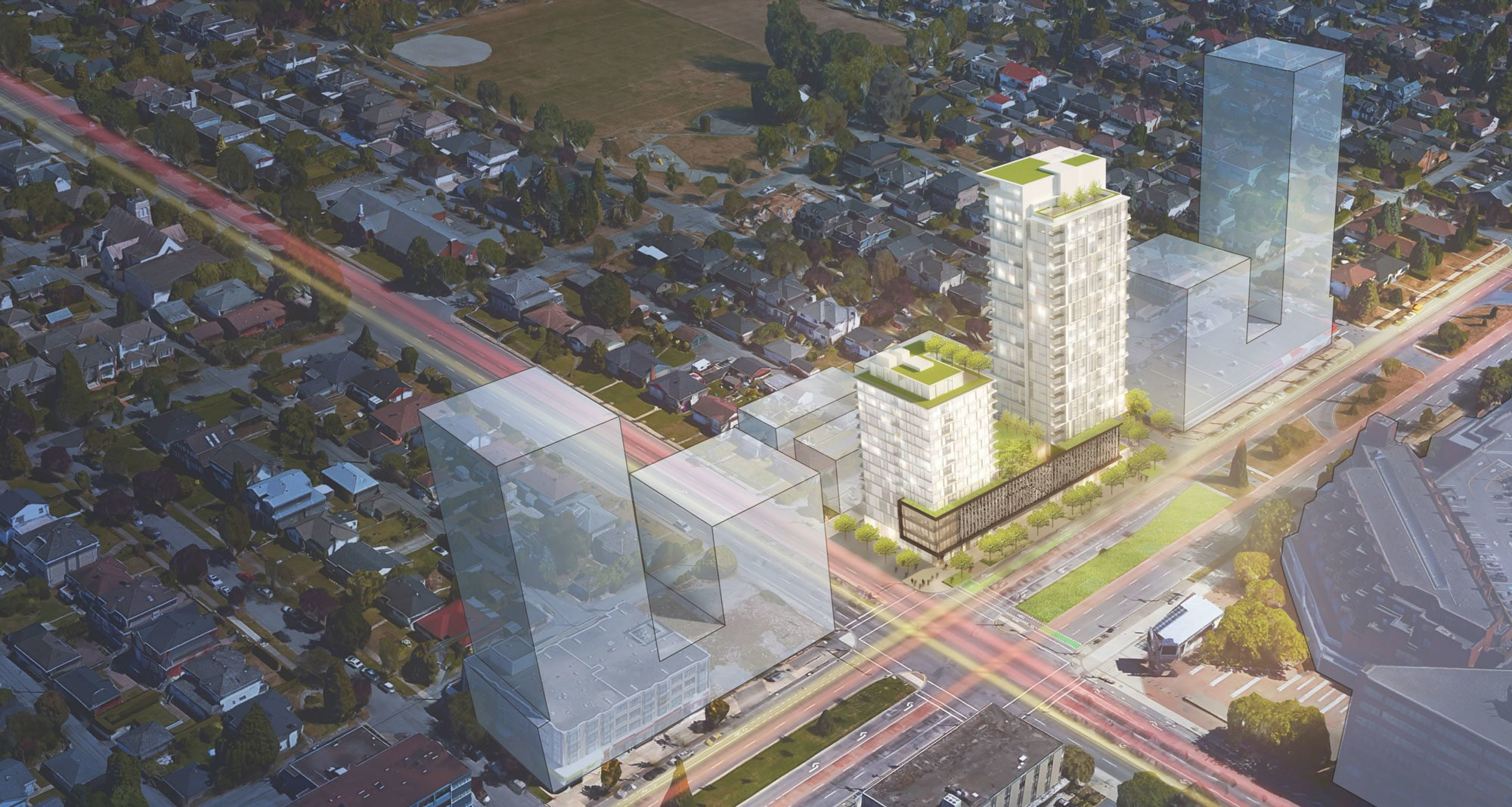 Polygon plans rental and strata condo towers across from Oakridge Centre