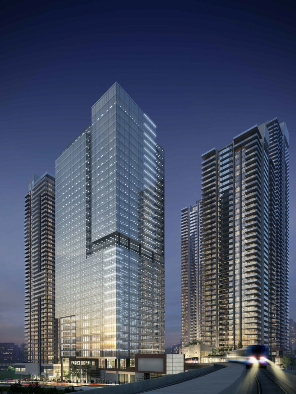 New rendering of 37-storey office tower at Gilmore Place