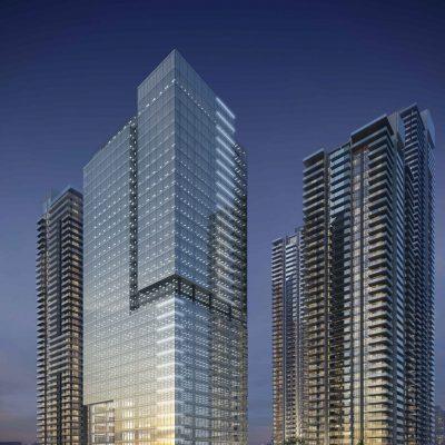 Office tower rendering