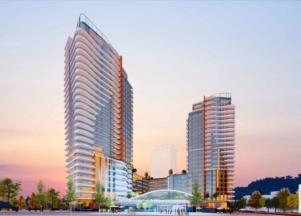 Three towers and future transit plaza slated for West 57th and Cambie
