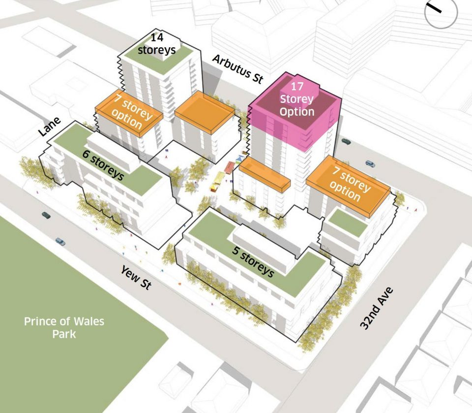 Over 500 rentals proposed next to Prince of Wales park