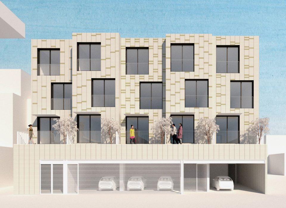 Broadhurst & Whitaker Block infill rendering