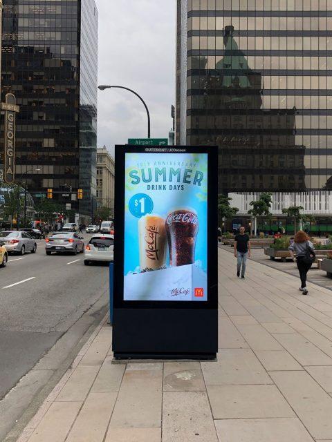 Digital ad sign