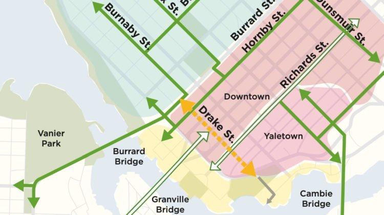 Drake Street bike lane