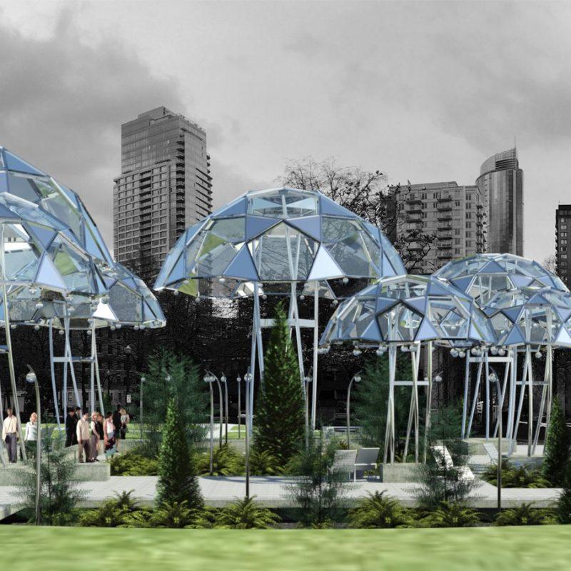 Siu Architecture Umbrellas Nelson Park