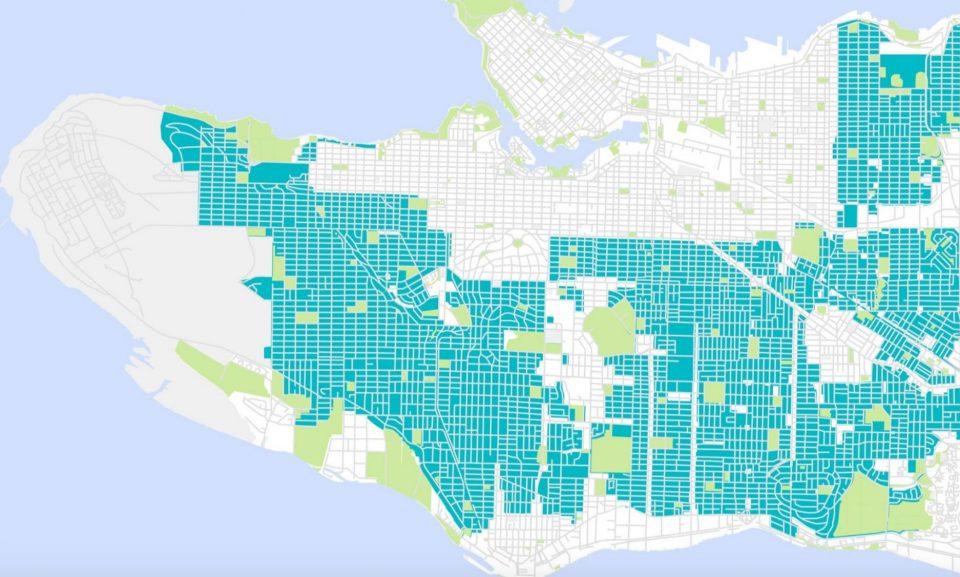 Vancouver single family housing zones
