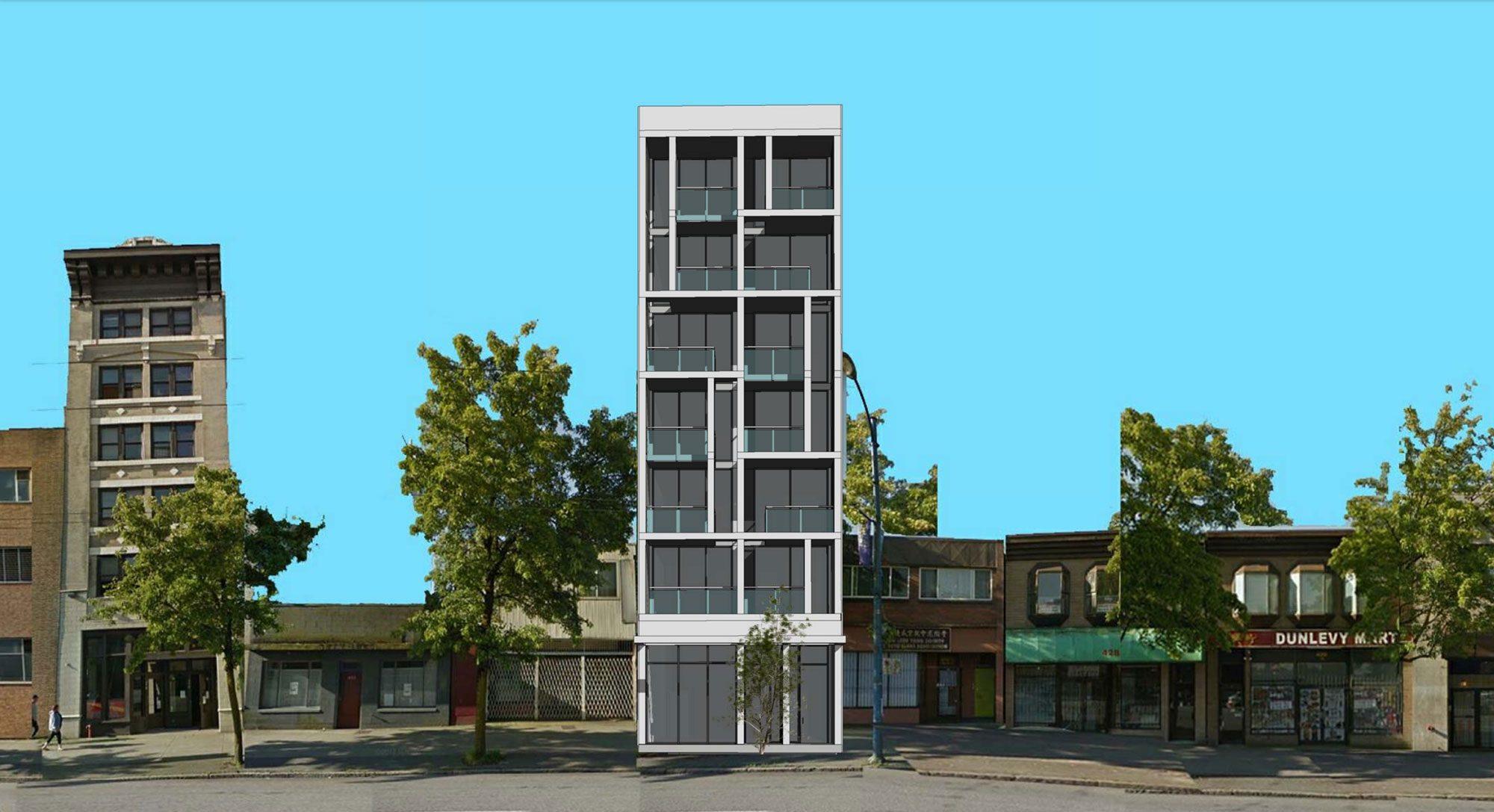 Slender social housing building slated for East Hastings