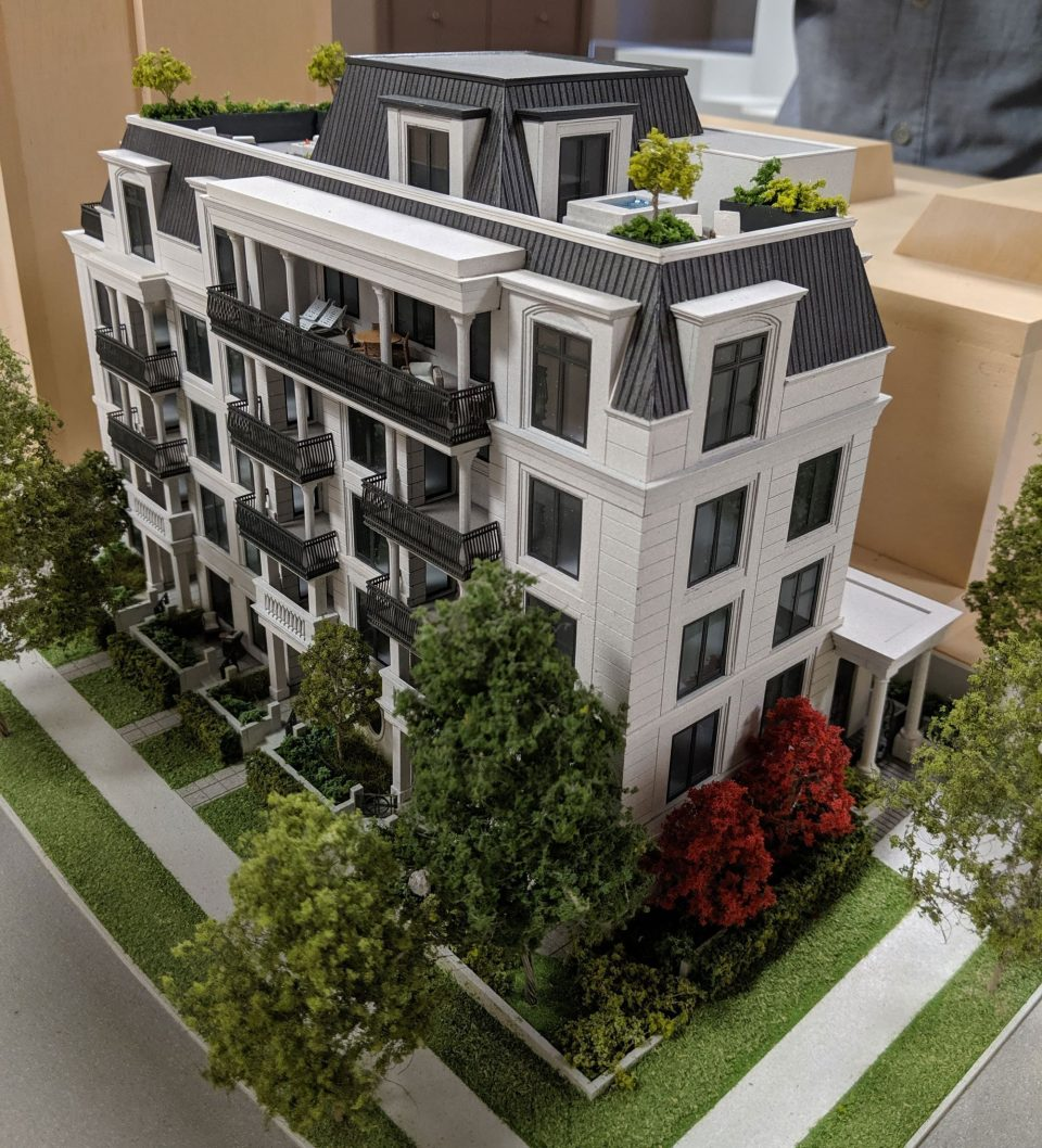Luxury condominium building constructed to Passive House standards for West End