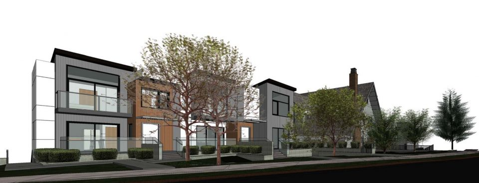 Modern infill planned around heritage house bordering Shaughnessy