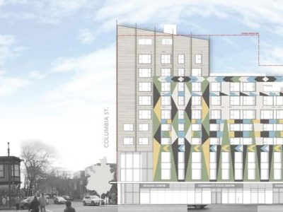 Aboriginal Land Trust housing and healing centre rendering