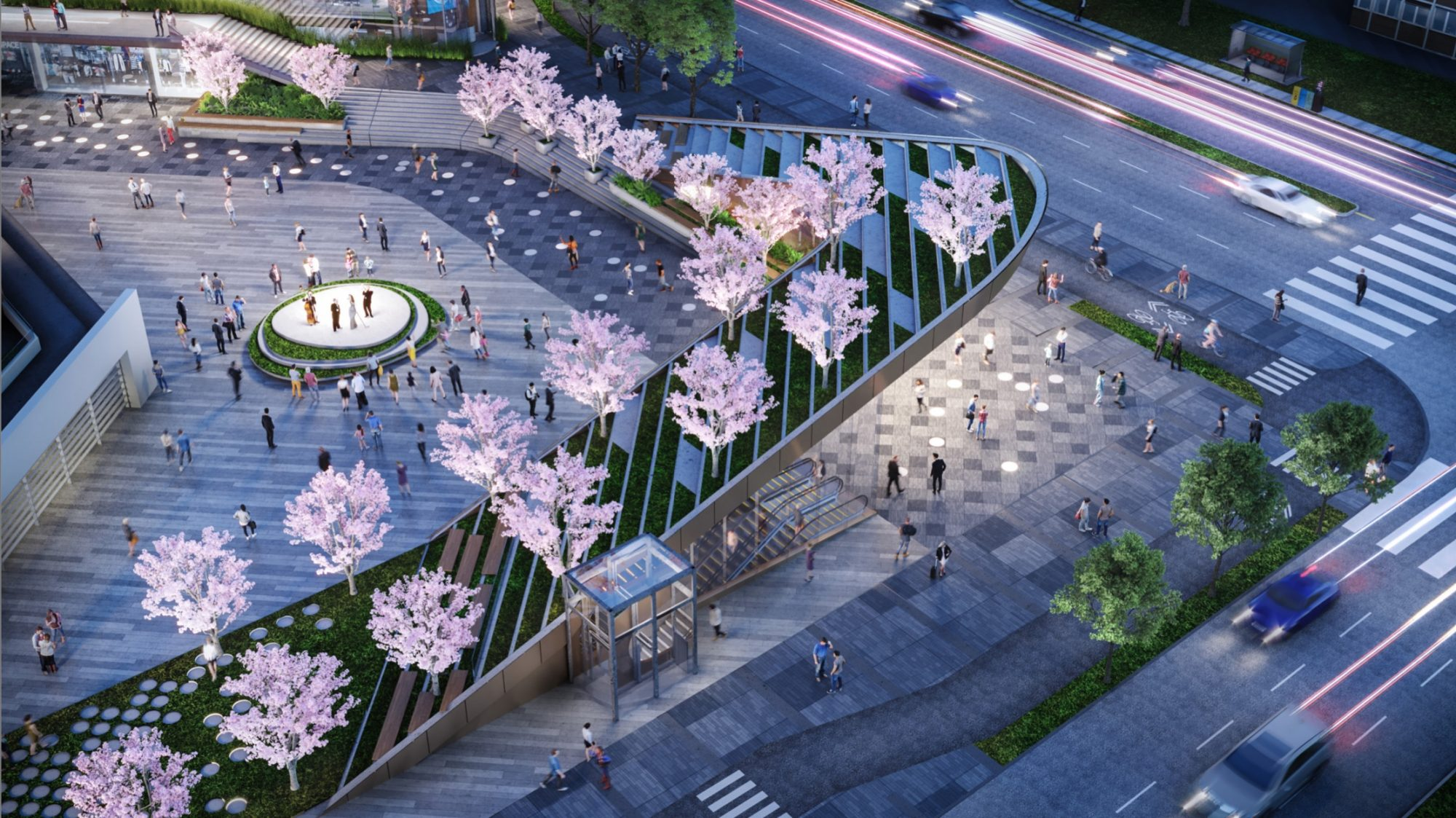 """New look for Oakridge """"Transit Plaza"""" and office buildings"""