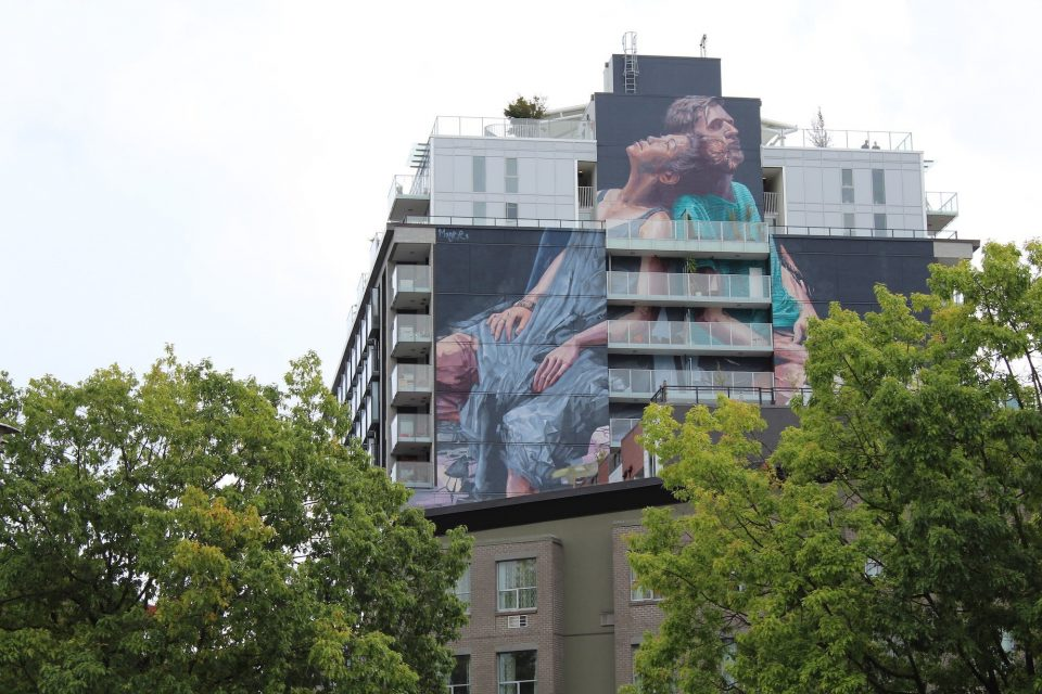 Mural by Fintan Magee injects new life into building façade