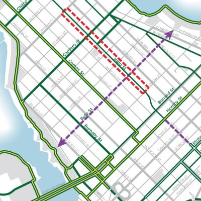Haro Street bike lane upgrades