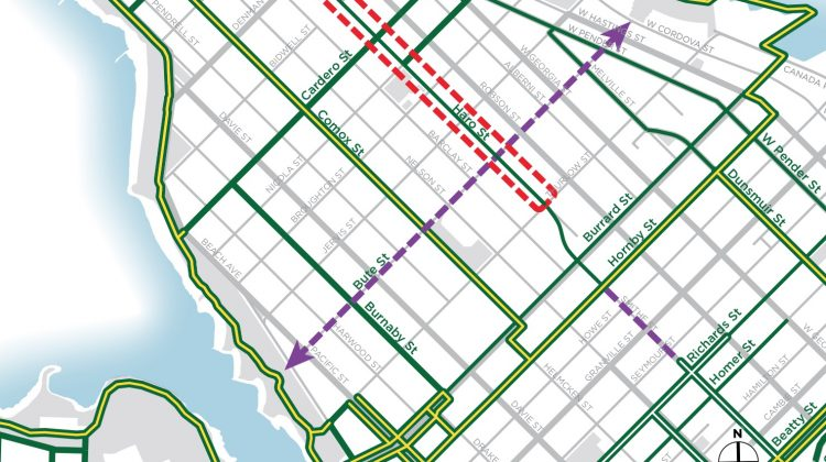 Haro Street bike lane upgrades