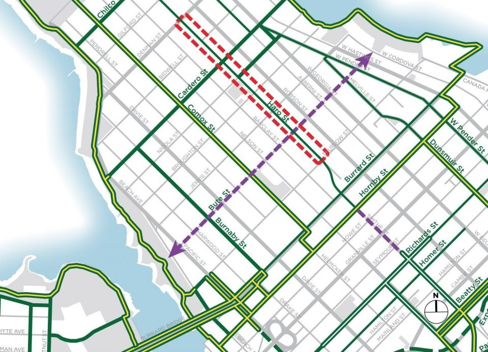 City plans upgrades to bike lane on Haro Street