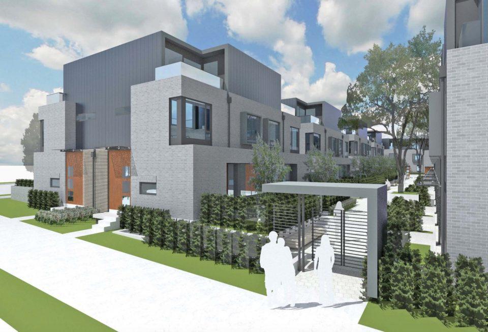 Oak Street townhouses rendering