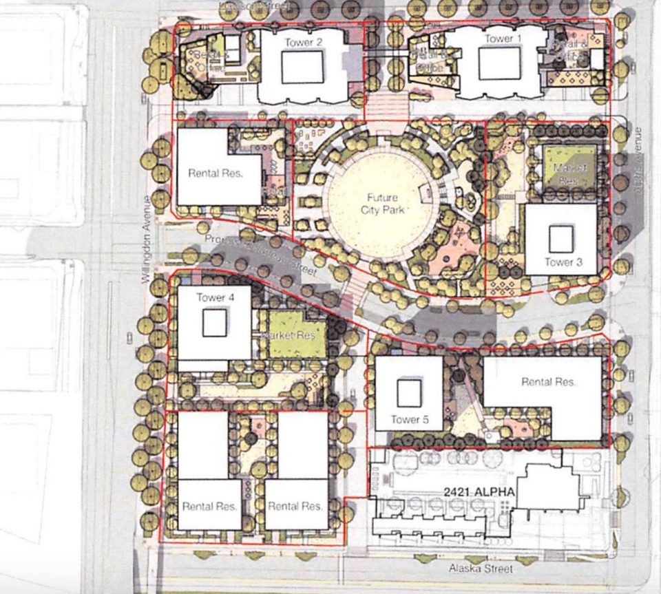 Overall site plan Brentwood
