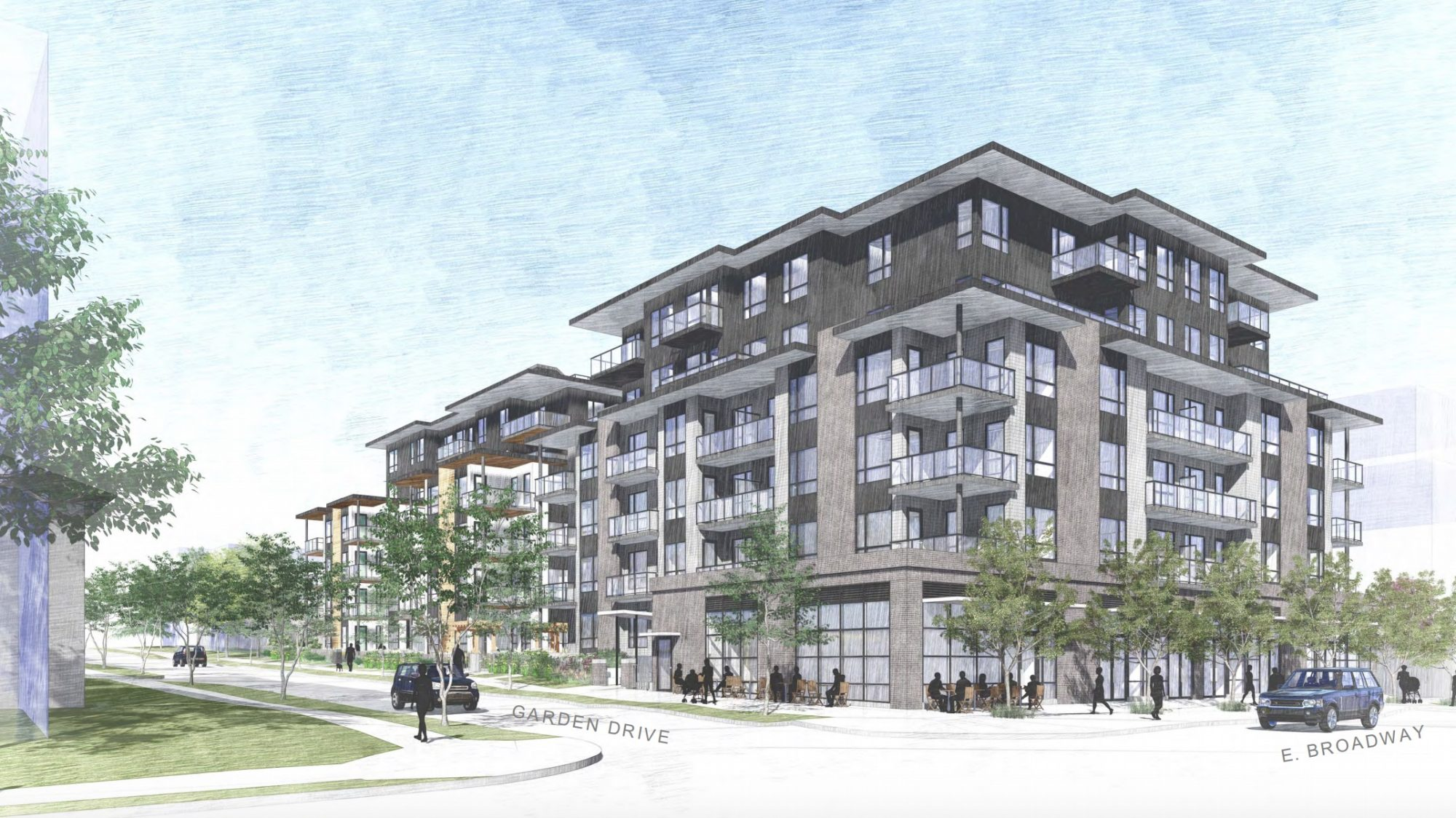 Two six-storey buildings slated for Garden Drive and East Broadway