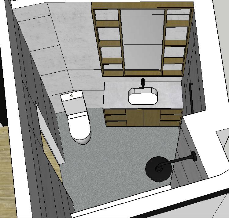 Rendering of renovated bathroom