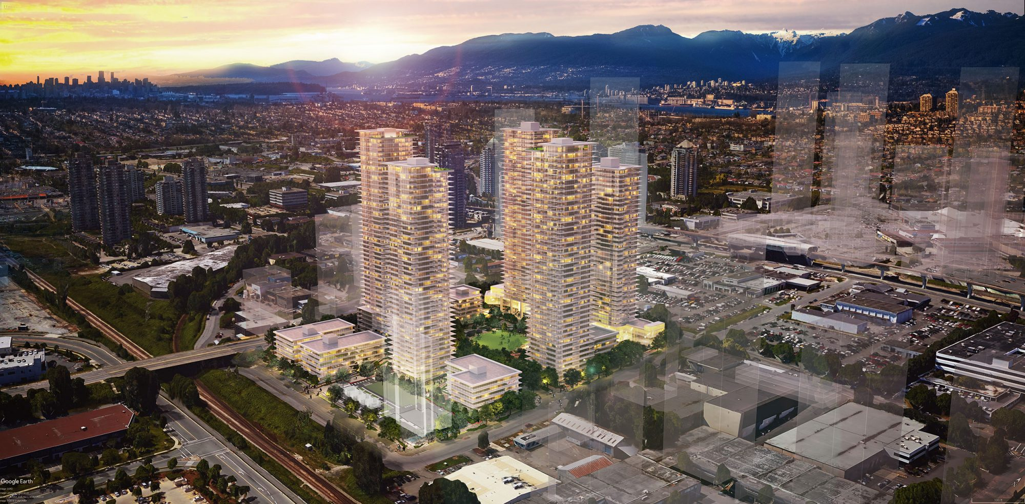 Aoyuan International's Brentwood site includes towers up to 51 storeys