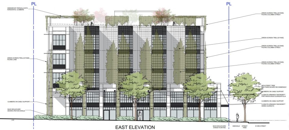 234 West 3rd Avenue east elevation