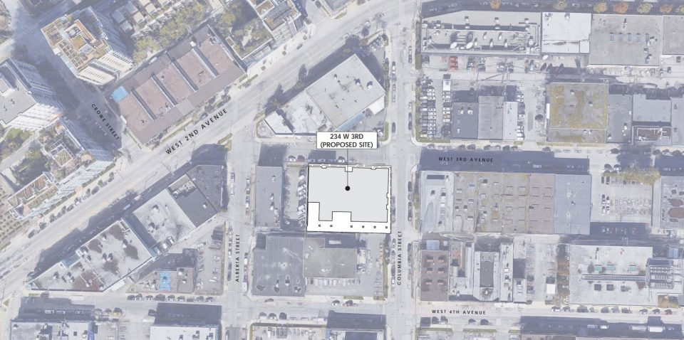 234 West 3rd Avenue proposal site