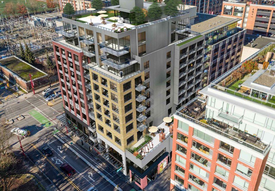 728-796 Main Street rendering rear