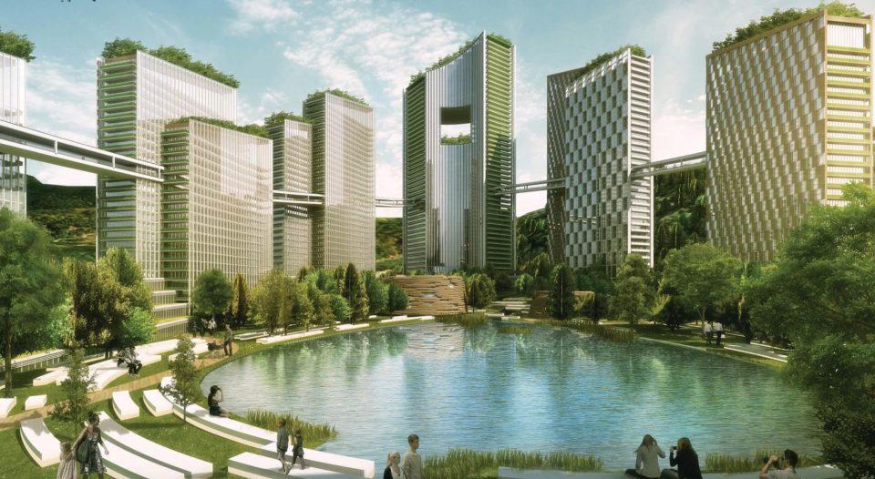 Office Reservoir with Public Park