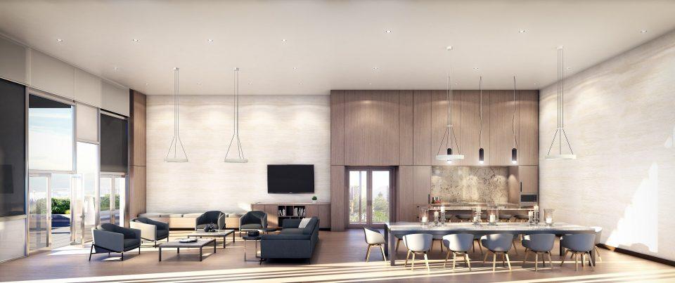 Polaris Burnaby condos Lounge
