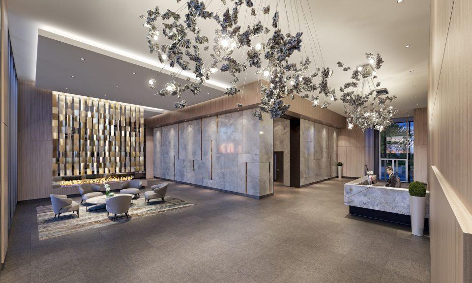 Polaris Burnaby condos lobby