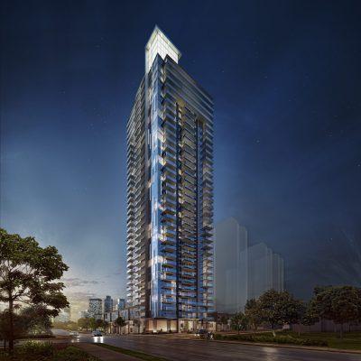 Polaris Burnaby condos tower rendering